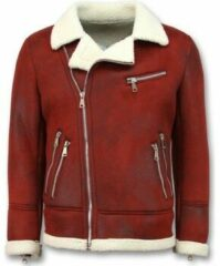 Tony Backer Imitatie Bontjas - Lammy Coat - Rood Jas / Heren Winterjas Heren Jas Maat L