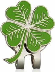 Firsttee - Marker klavertje vier - Good Luck - Magneet - Pet - Bal - groen - Golfballen - Golf accessoires cadeau - Golftrainingsmateriaal - Trolley - Golfbal - Sport - Training - Swing - Trainingsmaterialen