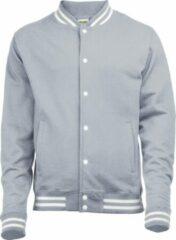 Awdis Volwassenen Unisex College Varsity Jacket (Heide Grijs)
