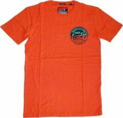 Superdry stevig zacht oranje t-shirt box fit - Maat L