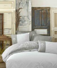 Cotton Box - Ranforce Adel Grijs - Dekbedovertrekset (100% Katoen) - 200X220 CM