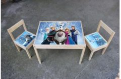 De Fabriek Muurstickers Kinder Meubel Houten set Frozen