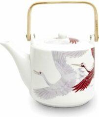 Tze tji chun taiwan tea Luxe geschenken set top cadeau idee kerstpakket theepot kraanvogel met filter 1000 ml 50 gram gezonde groene thee plus stalen maatlepel.