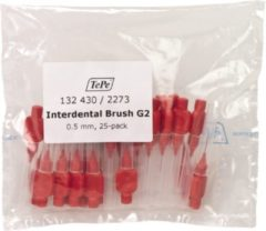 TePe Rood 25 stuks - Interdentale ragers origineel -0.5 mm - Ragers - Voordeelverpakking