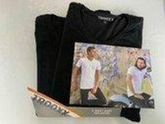 Zwarte Trooxx T-shirt 3x 2 pack, 6 stuks - V- Neck - Kleur: Black - Maat: XL