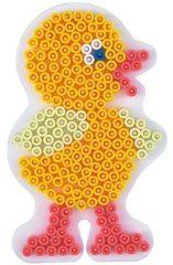 Witte Grondplaat Kuiken/ Kip voor Hama midi strijkkralen