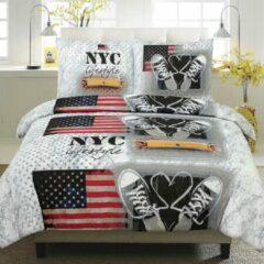 Homéé® Dekbedovertreksets - NYC Lifestyle - Lits-jumeaux 240x200/220cm + 2 slopen