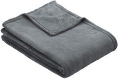 Fleece plaid Olbia Ibena zilverkleur