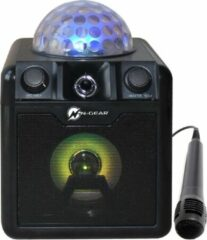 N-GEAR DISCO BLOCK 410 - Portable karaoke set zwart met microfoon