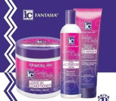 Fantasia IC CURLY Curl Activator + Co wash + Leave in Conditioner set of 3