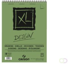Groene CANSON XL DESSIN TEKENBLOK A4 160GRAM 50VEL SPIRAAL