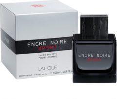 Lalique Eau De Toilette Encre Noir Sport 100 ml - Voor Mannen