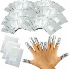 Hiden Gellak Remover folie – Gel nagellak verwijderaar – Aluminiumfolie | 100 stuks
