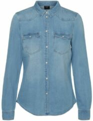Blauwe VERO MODA spijkerblouse VMMARIA light blue denim