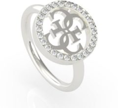 Witte Guess stalen ring 4G Swarovski Crystals EQUILIBRE