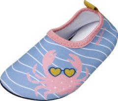 Playshoes - Uv-waterschoenen voor meisjes - Krab - Lichtblauw/roze - maat 24-25EU