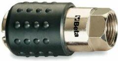 Beta Snelkoppeling 1917f Staal/rubber 1/4 Inch Zilver/zwart