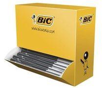 Doos 90 balpennen Bic M10 inklikbaar zwart + 10 gratis