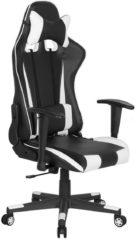 Beliani Bureaustoel zwart/wit hoogteverstelbaar RACER