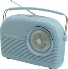 Soundmaster DAB450 DAB+/UKW Retro Radio, Weckfunktion, in blau oder rot Farbe: Blau