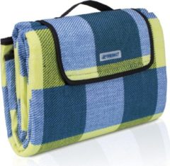 Sens Design Picknickdeken, ruitmotief, geel-blauw, picknickkleed, 195 x 150 m, waterdicht, campingdeken, outdoor plaid, stranddeken