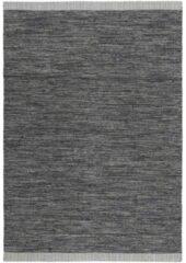 Antraciet-grijze MOMO Rugs - Atlas Grey Vloerkleed - 170x240 cm - Rechthoekig - Laagpolig Tapijt - Industrieel, Landelijk - Antraciet, Grijs