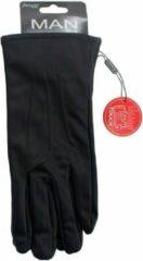 Merkloos / Sans marque Touchscreen handschoenen lederlook zwart voor heren L/XL