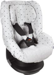Licht-grijze Dooky Seat Cover Groep 1 Autostoel hoes Light Grey Crowns