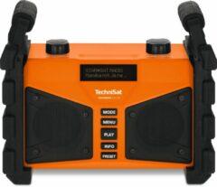 TechniSat Digitradio 230 OD Bouwradio DAB+, FM AUX, Bluetooth, USB Spatwaterbestendig, Stofdicht, Herlaadbaar Oranje