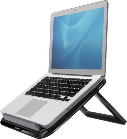 Afbeelding van Grijze Fellowes I-Spire Quick Lift - Laptopstandaard - Zwart