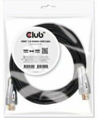 Club 3D Club3D HDMI Aansluitkabel 5.00 m CAC-2312 High Speed HDMI met ethernet, Vlambestendig Zwart [1x HDMI-stekker - 1x HDMI-stekker]