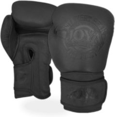 Joya Fight Gear - Fight Fast Bokshandschoenen Leer - Matzwart - 10 oz