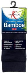 Lucovitaal Bamboe Sok Lang Zwart Maat 39-42 1 paar