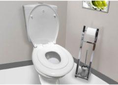 Witte Allibert wc-bril KIDS - thermoplastiek - soft close - wc-brilverkleiner afklikbaar - wit
