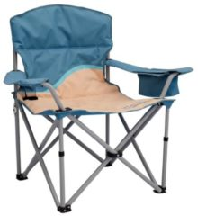 Praktischer Campingstuhl mit Getränkehalter und Kühlfach vielseitig einsetzbar für Festival Meerweh beige/blau