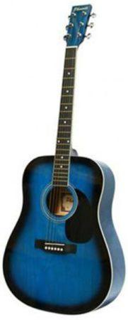 Afbeelding van Blauwe Phoenix Akoestische Western Gitaar - Blue Sunburst