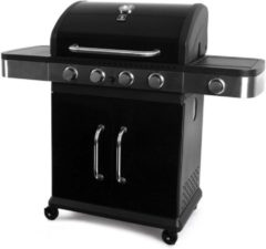 Garden Grill Prestige Gasbarbecue - 4+1 Branders - Zwart RVS