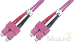 Digitus Professional DK-2522-02-4 Glasvezel Aansluitkabel [1x SC-stekker - 1x SC-stekker] 50/125 µ Multimode OM4 2 m
