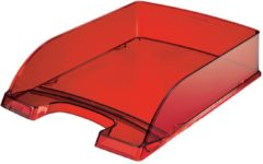 Rode Leitz brievenbakje Plus 5226 rood transparant