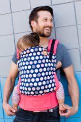 Marineblauwe Tula Baby Tula Standard - Trendsetter Navy - ergonomische draagzak