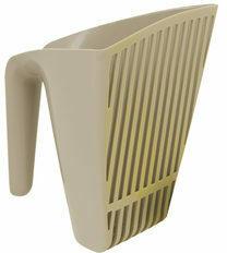 Gebr. de Boon Moderna plastic kattenbakschep scoop & sift warmgrijs
