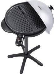 Steba Germany VG 250 Elektrische barbecue Uitvoering: Vaste Grilloppervlak (diameter)=400 mm Zwart, Zilver