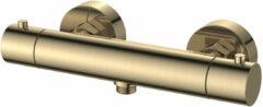 Regn thermostatische douchekraan cool touch - geborsteld goud