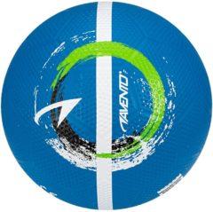 Blauwe Avento Straatvoetbal Maat 5 blauw/wit/zwart/fluorgroen