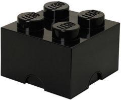 Zwarte Lego Storage Brick 4 - 25 cm x 25 cm x 18 cm - Zwart