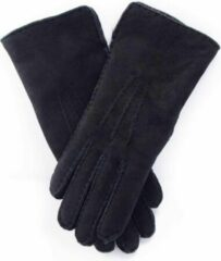 Bernardino Zwarte Lammy handschoenen suede voor volwassenen 7 (M - 18 cm)