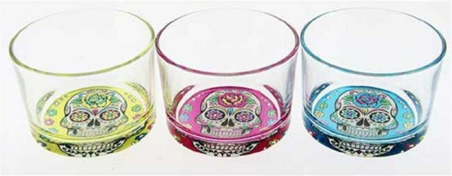 Afbeelding van Cerve Mexican Skull - Glas - 23cl - 3 Kleuren - (Set van 12) En Yourkitchen E-kookboek - Heerlijke Smulrecepten