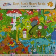Grafix Extreem mooie vloerpuzzel Happy world