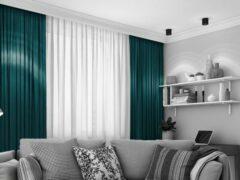 House of Curtains LEMONI Kant en klaar Gordijn Verduisterend Met Plooiband 300x260 cm Klassiek Groen 1 Stuk