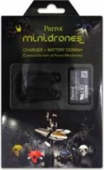 Zwarte Parrot Mini Drones - Charger + Battery + USB Cable